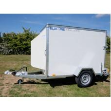 7'x4'x5' Single Axle Box Van Trailer Drop Down Tail Gate