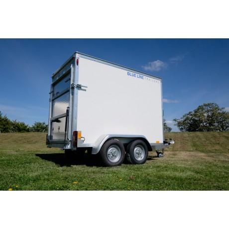 7'x4'x5' Tandem Axle Box Van Trailer Drop Down Tail Gate