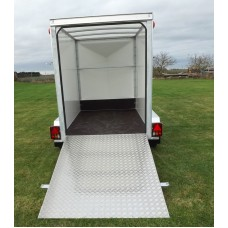 8'x5'x6' Single Axle Box Van Trailer Drop Down Tail Gate