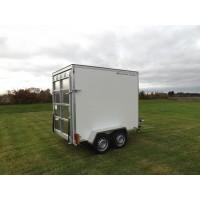 8'x5'x6' Tandem Axle Box Van Trailer Drop Down Tail Gate