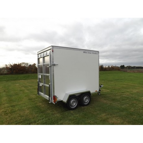 8'x5'x6' Tandem Axle Box Van Trailer Drop Down Tail Gate