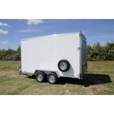 12'x6'x6'6 Tandem Axle Box Van Trailer Drop Tail Gate