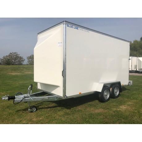 14'x6'x7' Tandem Axle Box Van Trailer Drop Down Tail Gate