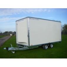 "14'x6'6""x6'6 Tandem Axle Cargo Box Trailer Trailer"