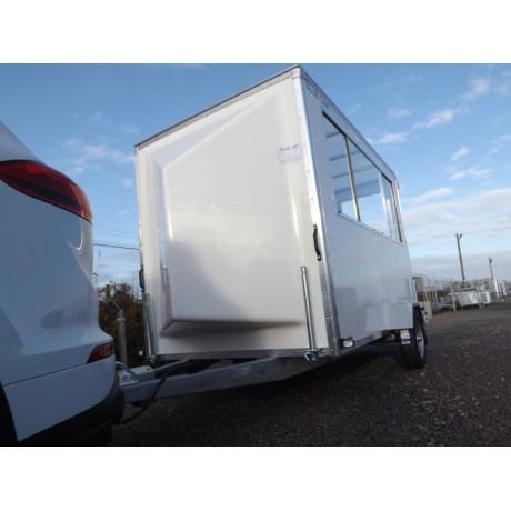 "10' x 6' x 6' 6"" Single Axle Commentary Unit Box Van Trailer"