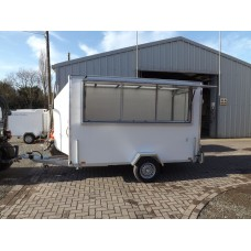 10'x5'x6' Single Axle Commentary Unit Box Van Trailer