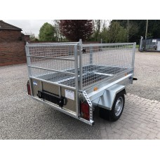 """6'8""""x4'1"""" General Purpose Trailer with Caged Sides"""