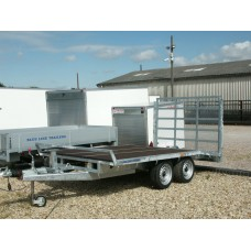 12'x6' Beaver Tail Platform Trailer with High Tail Gate