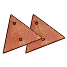 Red Triangle Warning Reflectors x 2