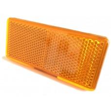 Pair of Self Adhesive Reflectors 90mm x 40mm Amber