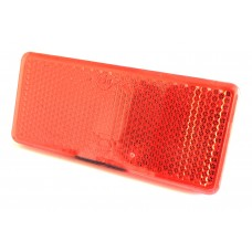 Pair of Self Adhesive Reflectors 90mm x 40mm Red
